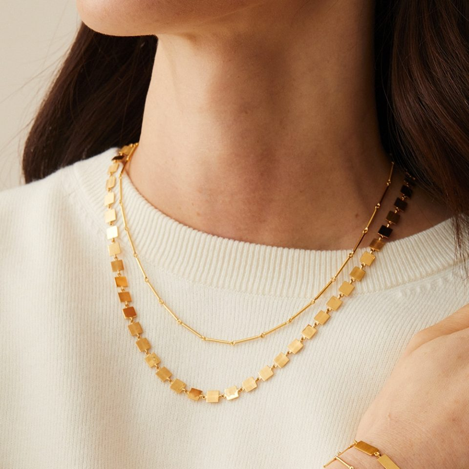 Everyday by tomfoolery, Linear Square Link Necklace, tomfoolery