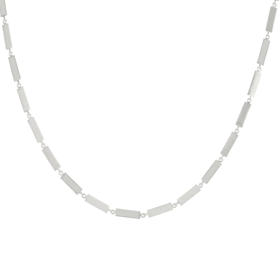 Everyday by tomfoolery, Linear Wide Bar Link Necklace, tomfoolery