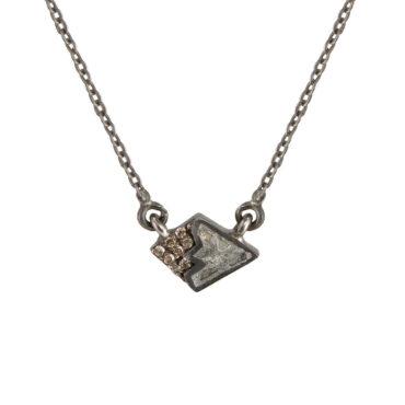 Shana Gulati, Diamond & Oxidised Silver Leila Pendant, Tomfoolery London