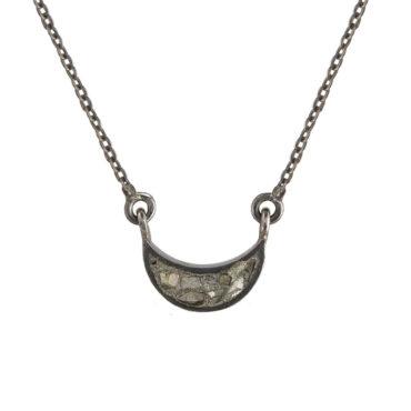 Shana Gulati, Diamond & Oxidised Silver Korba Pendant, Tomfoolery