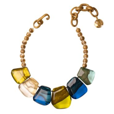 Dominique Denaive, tomfoolery Ginger Multicoloured Necklace
