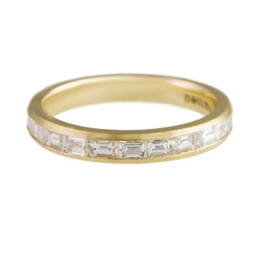 Muse by Tomfoolery, 18ct Yellow Gold Baguette Diamond Channel Eternity Ring, tomfoolery