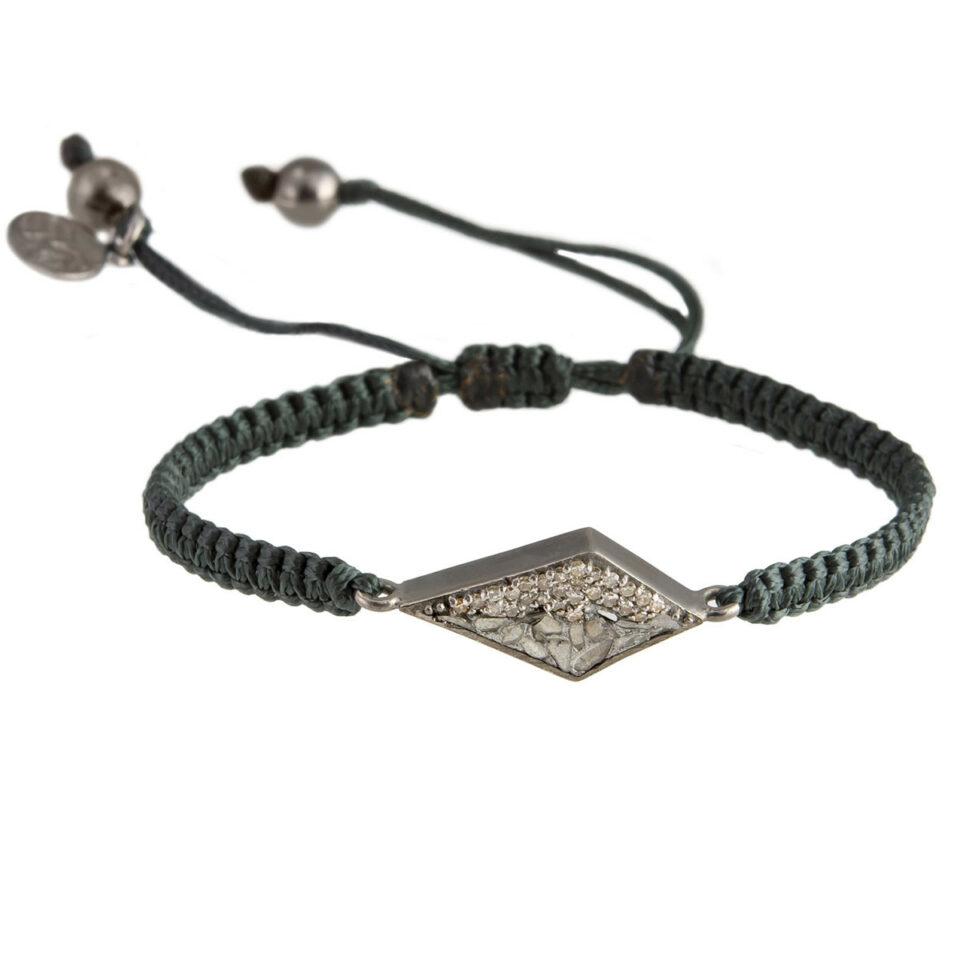 tomfoolery shana gulati meera - Oxidised Silver & Champagne Diamond Meera Bracelet
