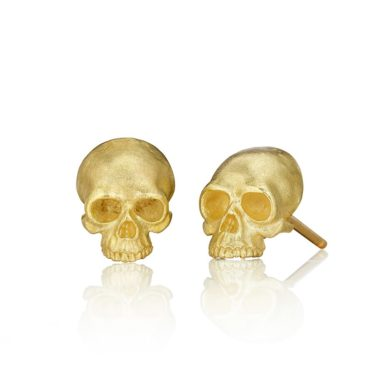 Tiny Skull Stud Earrings by Anthony Lent, shop online at tomfoolery London | www.tomfoolerylondon.co.uk