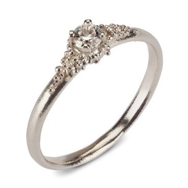 Hannah Bedford, tomfoolery, White Gold Cluster Diamond Ring