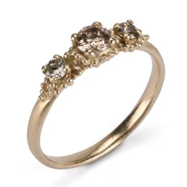 Hannah Bedford, tomfoolery, Triple Cluster Champagne Diamond Ring