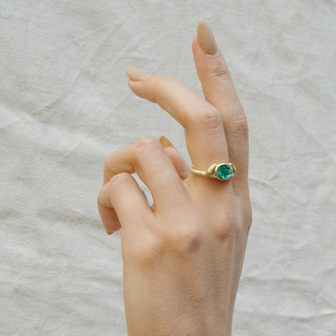 Double Headed Gemstone Serpent Ring by Anthony Lent, shop online at tomfoolery London   www.tomfoolerylondon.co.uk