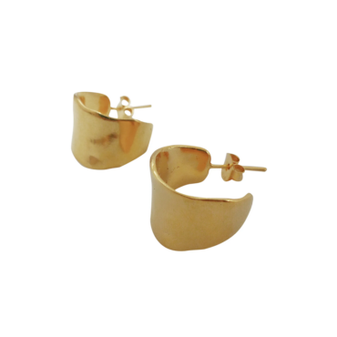 Tomfoolery, Gold Plated Ines Hoop Earrings  Karen Hallam