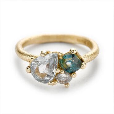 Ruth Tomlinson, Green Sapphire & Diamond Ring, tomfoolery
