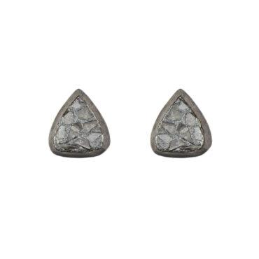 Shana Gulati, Oxidised Silver Diamond Barrow Studs , Tomfoolery