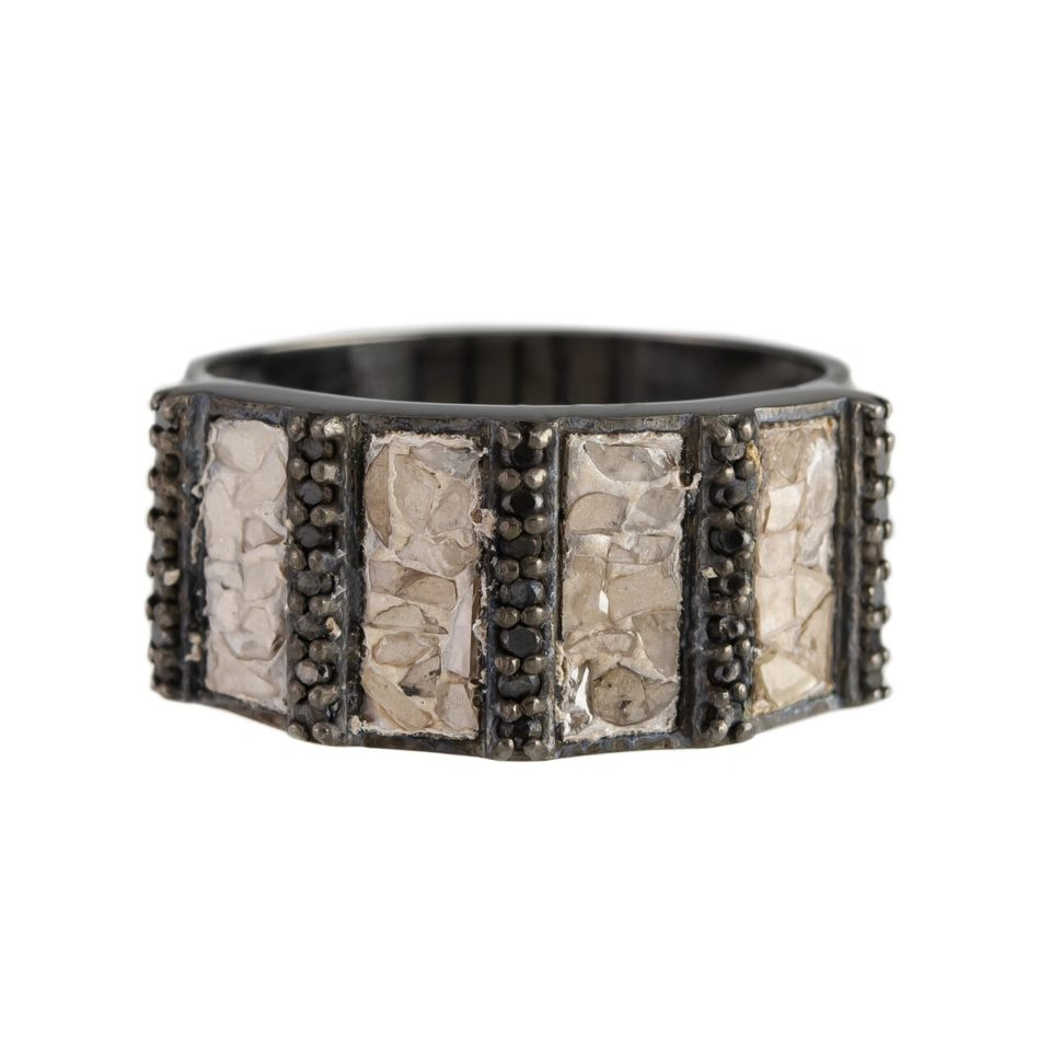 Shana Gulati, Diamonds & Oxidised Silver Ajmer Ring, Tomfoolery
