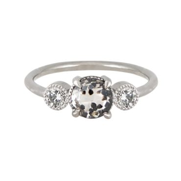 18ct White Gold Dalmatian Diamond Ring, tomfoolery, tf three