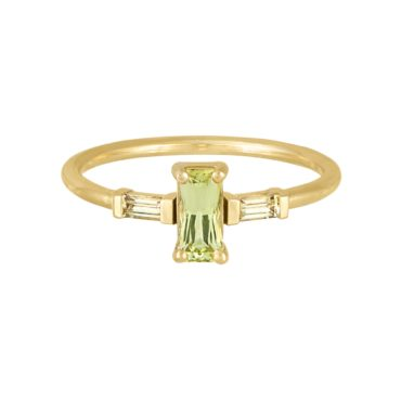 Trio Baguette Yellow Sapphire Ring, tf THREE, tomfoolery