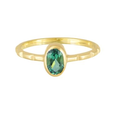 Margaux Clavel, Tomfoolery,  Delfi Sea Green Tourmaline Oval Ring