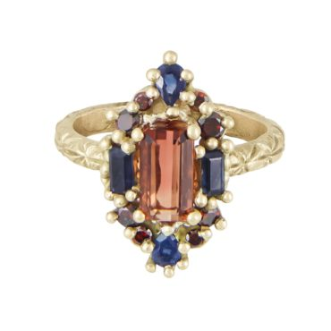Orange & Blue Kaleidoscope Ring, Ciara Bowles, tomfoolery