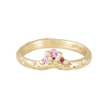 Ciara bowles, tomfoolery,  Pink Sapphire Crest Ring