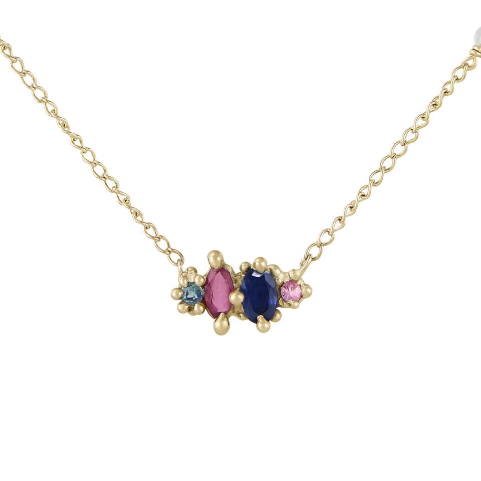 Blue Harlequin Pendant Necklace, tomfoolery, Ciara Bowles