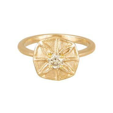 Claire Macfarlane, 14ct Yellow Gold You x Me Ring , Tomfoolery London