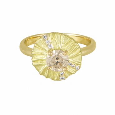 Claire Macfarlane, 18ct Yellow Gold Radiance Ring, Tomfoolery London