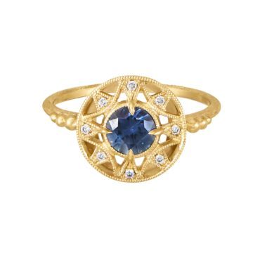 tomfoolery:  Zenith Ring with Blue Sapphire by DMD