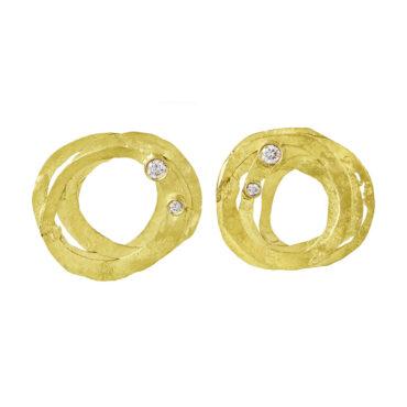 Gold and Diamond Wrap Studs, tomfoolery, shimara carlow