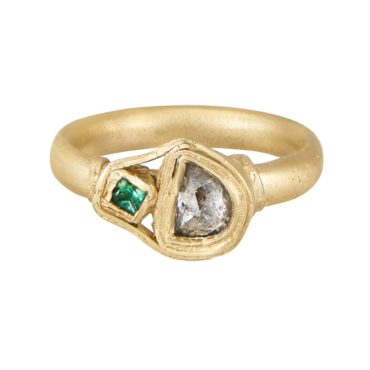 Fraser Hamilton, Tomfoolery, TOMFOOLERY EXCLUSIVE -OOAK 'Lace' 14ct Yellow Gold Diamond & Tourmaline Ring