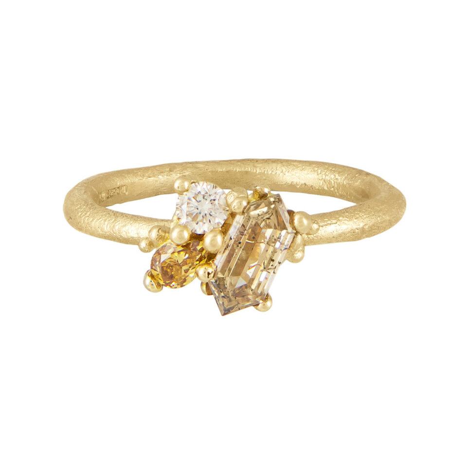 Tomfoolery Exclusive - OOAK Contrast Cut Diamond Ring, Ruth Tomlinson