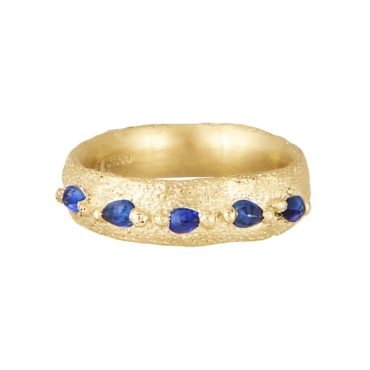 Ami Pepper, Wide Mermaid Sapphire Ring, Tomfoolery London
