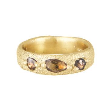 Ami Pepper, Wide Mermaid Rose Cut Diamond Ring , Tomfoolery London