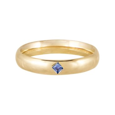 tomfoolery jewellery gallery: Blue Sapphire Row Ring