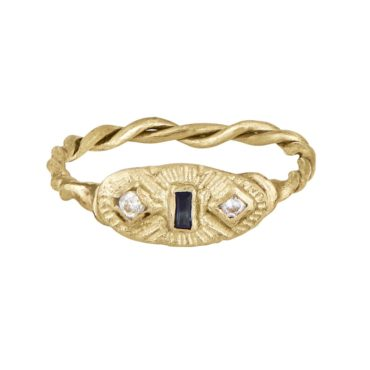 Franny E, 14ct Yellow Gold ' Twist of Fate & Meaning' , Tomfoolery London