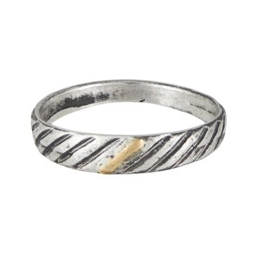 Franny E, Silver '1985' Band Ring , Tomfoolery London