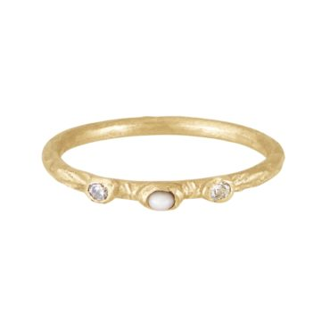 Franny E, 14ct Yellow Gold Wild Ocean Pearls Ring, Tomfoolery London