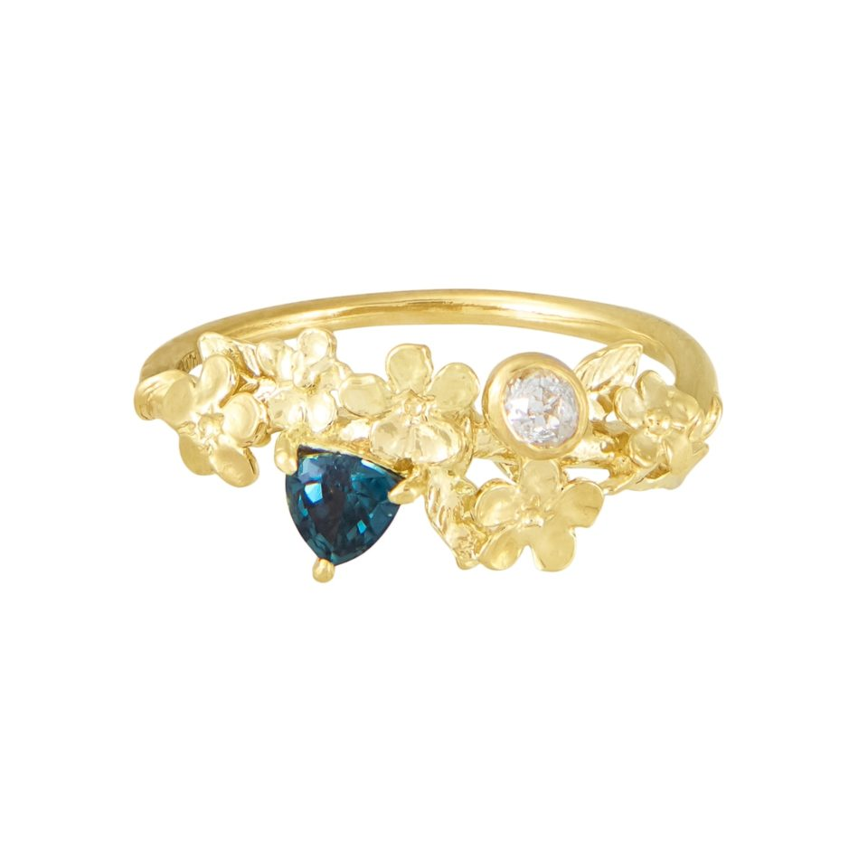 One of A Kind Forget Me Not Moi Et Toi Ring, alex monroe, tomfoolery