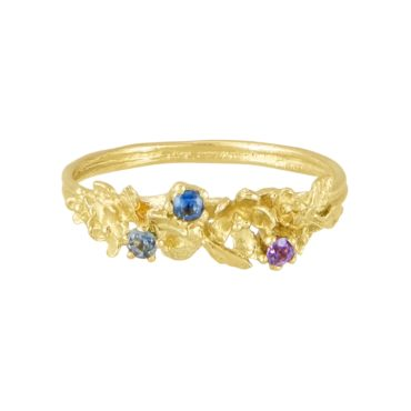 alex monroe, tomfoolery, Beekeeper sapphire twist ring - calabria stones