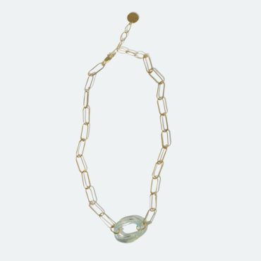 Cled, The Day Loop Glass Chain Necklace , Tomfoolery London