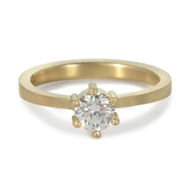 Maya Selway, Diamond Kiss Solitaire Ring , Tomfoolery