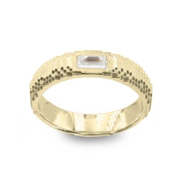 Harriet Morris,   5mm Baguette Diamond Glitch Ring, Ring tomfoolery
