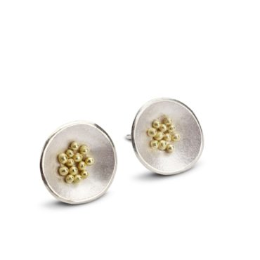 Hannah Bedford, Medium Adorn Granulated Earrings, Tomfoolery London