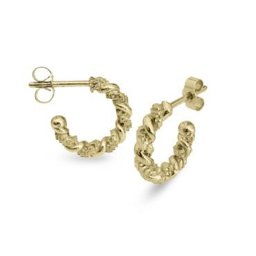 Harriet Morris,  15mm Twist Hoops, Ring tomfoolery