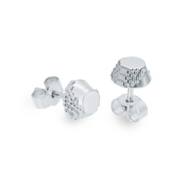 Harriet Morris,  Silver Glitch Studs, Ring tomfoolery