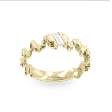 Harriet Morris,   Baguette Diamond Pixel Twist Ring, Ring tomfoolery