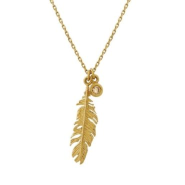 Plume & Diamond Champagne Diamond Necklace, alex monroe, tomfoolery
