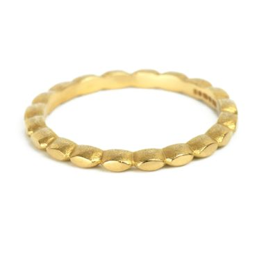 Claire Mcfarlane, Narrow 18ct Yellow Gold Seeds Band, Tomfoolery London