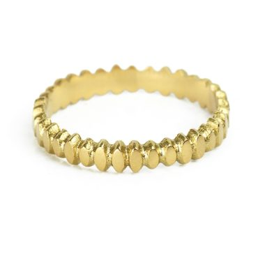 Claire McFarlane, 18ct Yellow Gold Seeds Band, Tomfoolery London