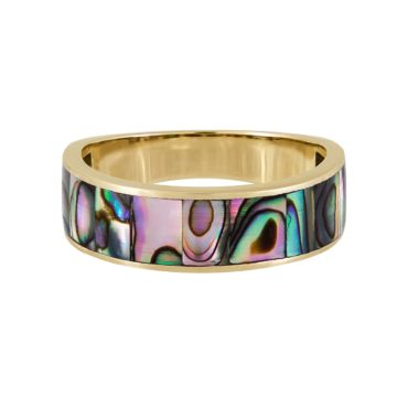 metier by tomfoolery:Abalone Mother of Pearl Wide Ring