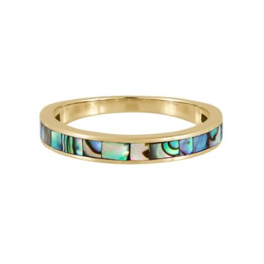 metier by tomfoolery:Abalone Mother of Pearl Slim Ring