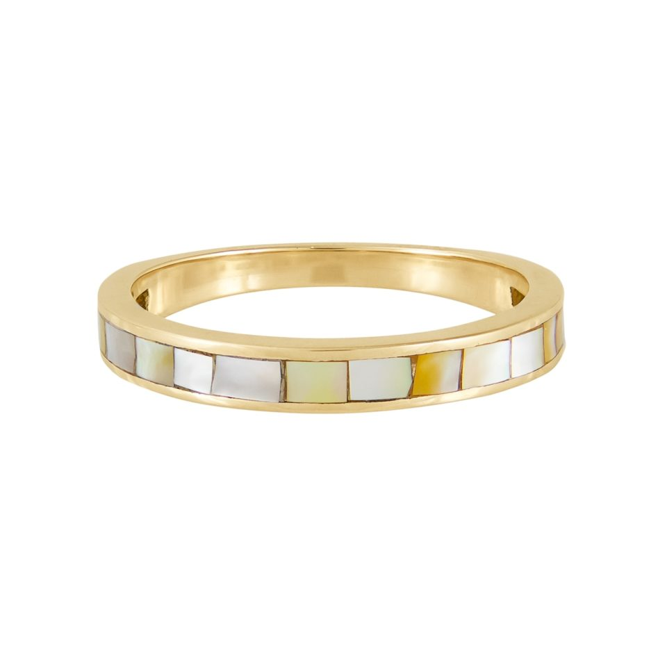metier by tomfoolery:White Mother of Pearl Slim Ring