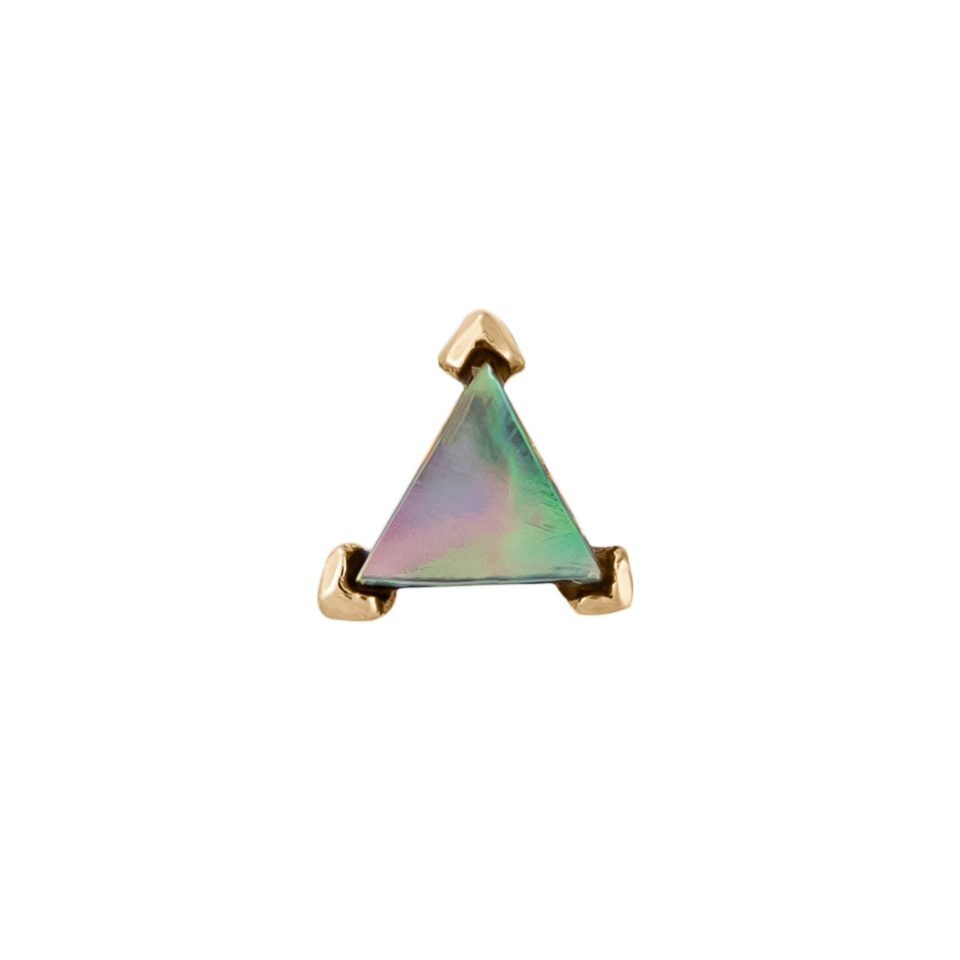 metier by tomfoolery: Claw Mother of Pearl Mini Triangle Stud