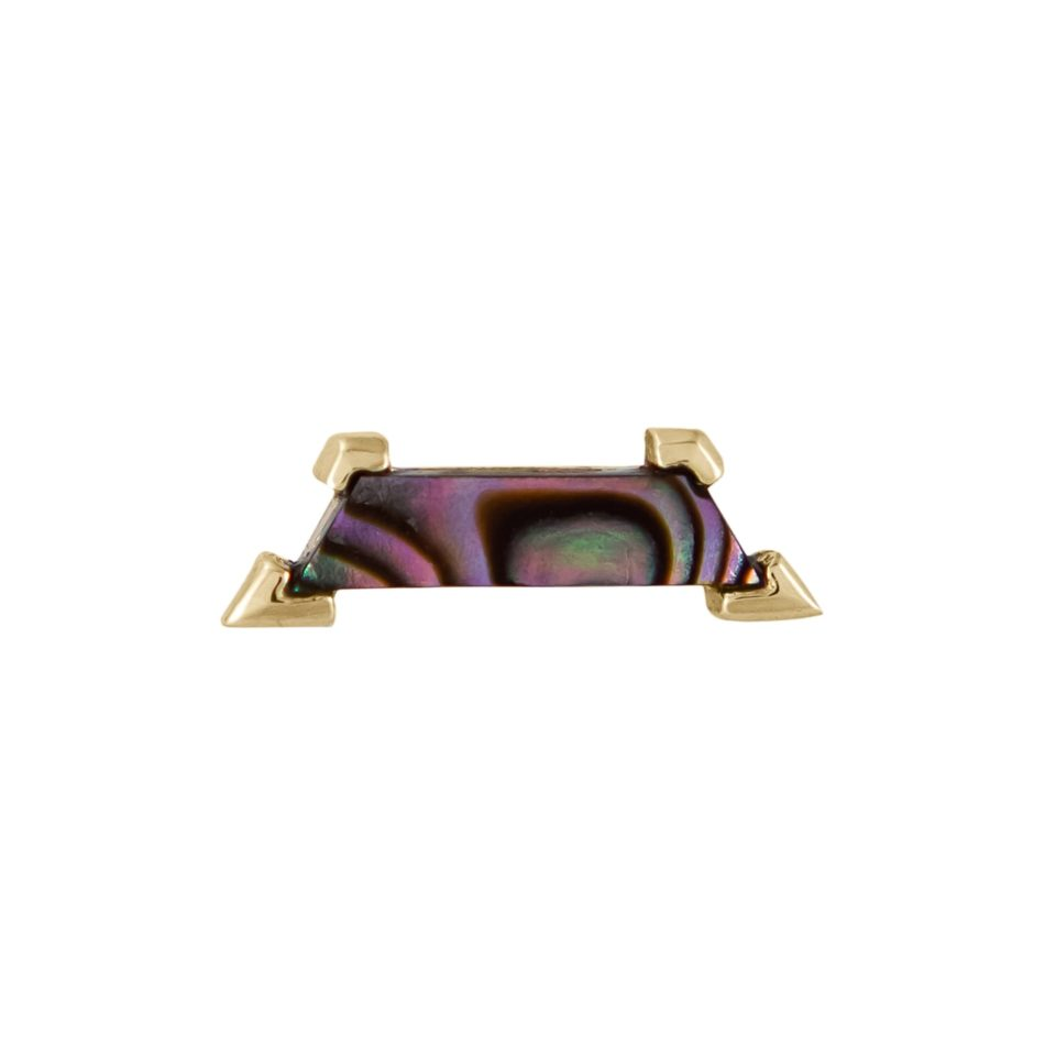 metier by tomfoolery: Claw Mother of Pearl Trapezoid Stud